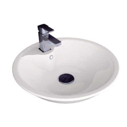 "Umivaonik nadgradni 450 okrugli/ovalni belo I – RUPA ""Alvit"""